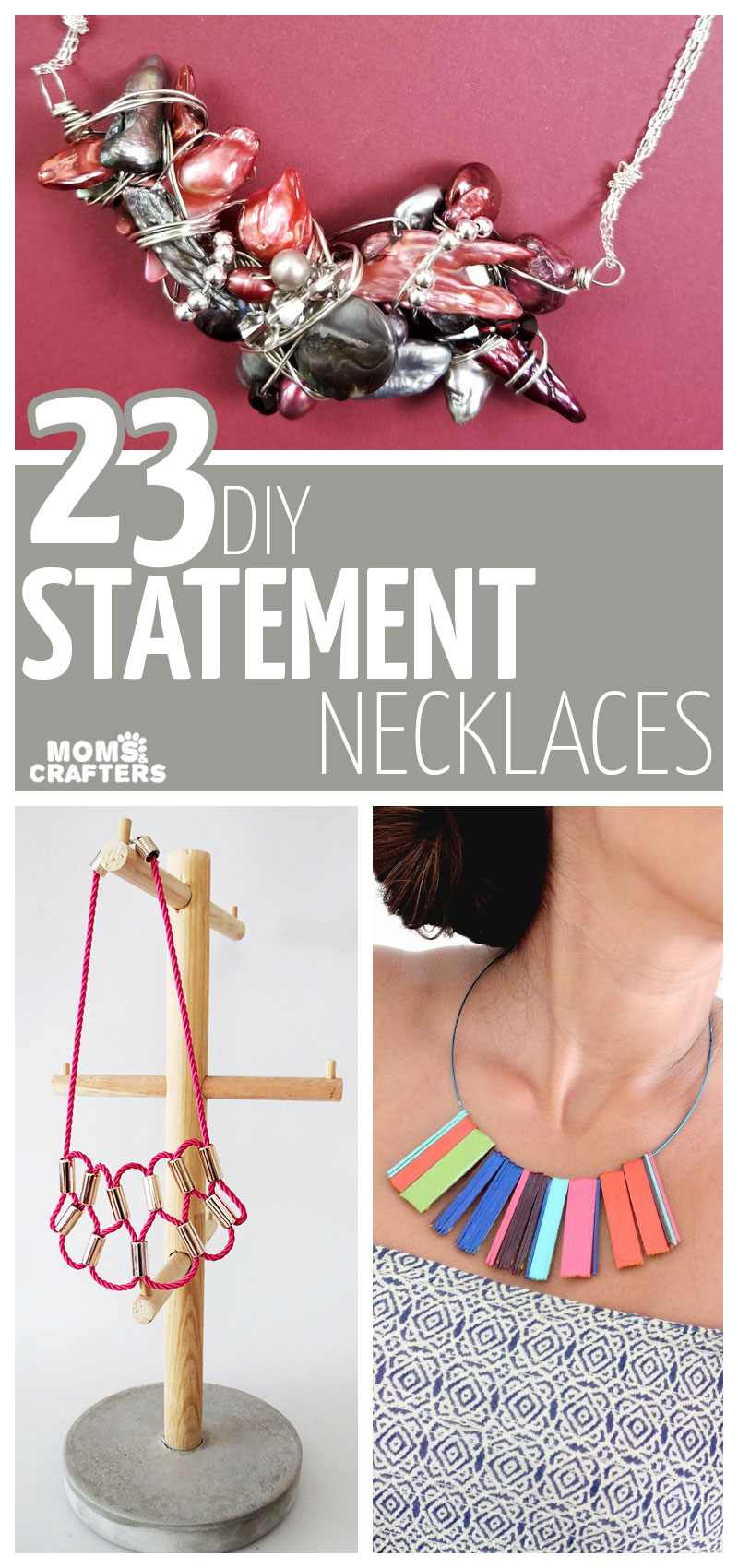 Make these gorgeous DIY statement necklace projects! This list includes fresh ideas for everyone - easy jewelry making ideas for beginners, cool trendy projects for teens, and more!