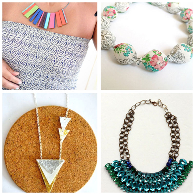 Super cool DIY statement necklace ides for beginner through pro