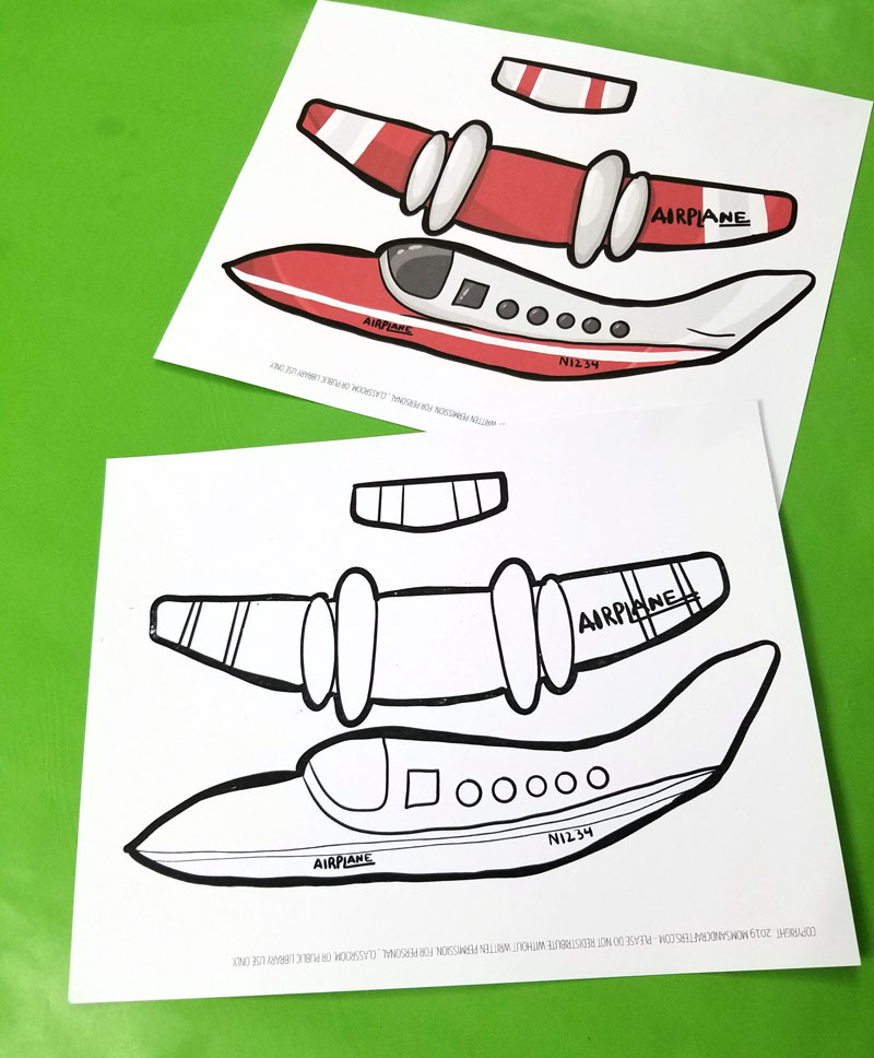 Easy Paper Airplane Templates to Print, Color, Craft, and fly!