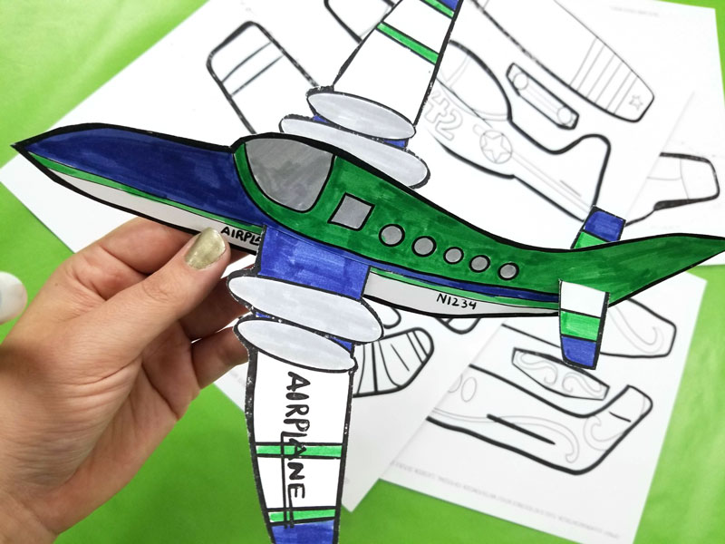 image relating to Free Printable Paper Airplane Templates named Simple Paper Plane Templates towards Print, Colour, Craft, and fly!