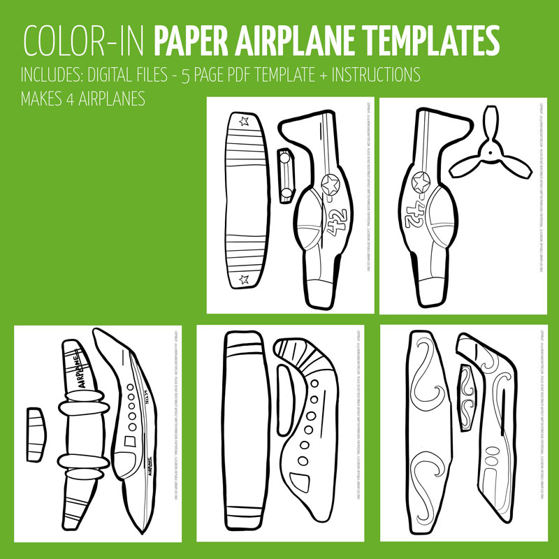 picture about Printable Paper Airplanes named Simple Paper Plane Templates towards Print, Shade, Craft, and fly!