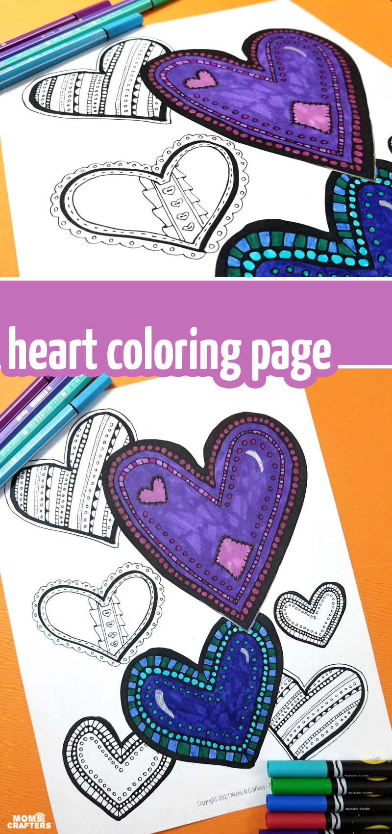 Click to download your free printable heart coloring page for teens or adults! This fun free printable adult colouring page is perfect for valentine's day