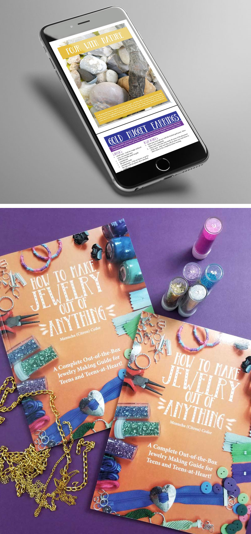 this cool jewelry making book is just what I needed - it's so different and unique - perfect for teens!