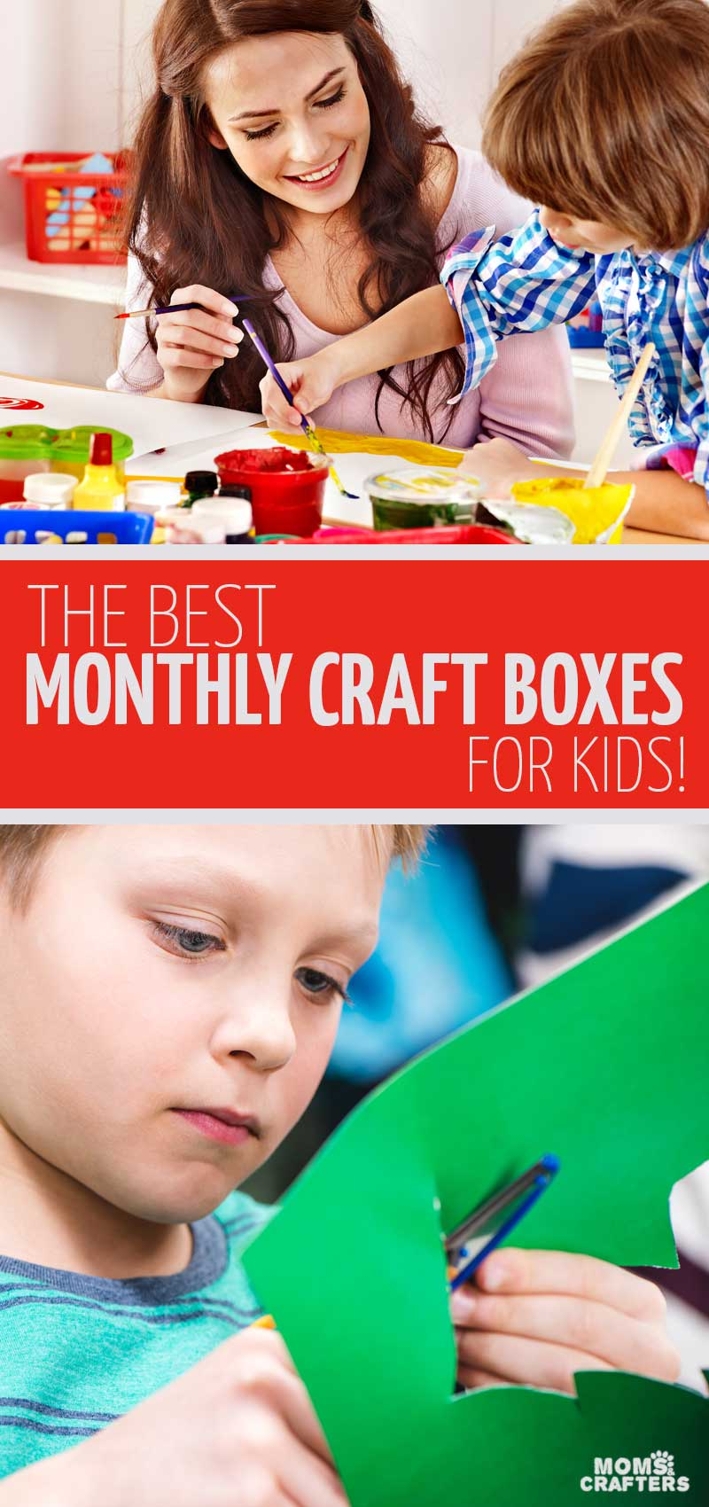 Click for the ultimate list of the best craft subscription boxes for kids and teens as written up by a professional crafter! These are great gifts for crafty kids who love to be creative, adn a great way to do weekend crafting activities as a family.