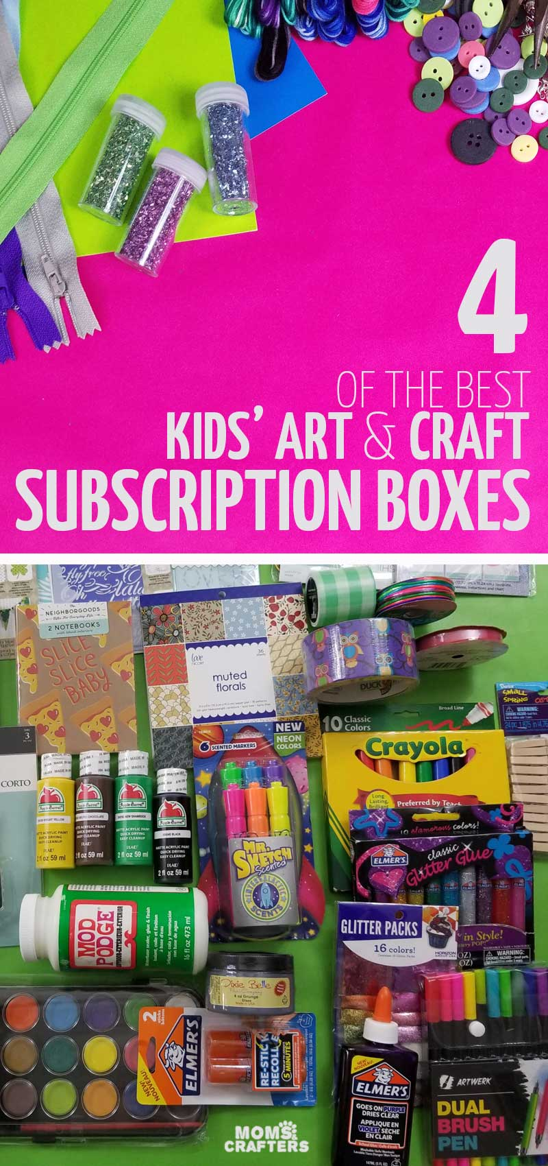 The best kids craft subscription boxes for kids of all ages - toddlers, preschoolers, grade school age, tween and teen! This includes monthly STEM and STEAM activities, arts and crafts perfect for weekends