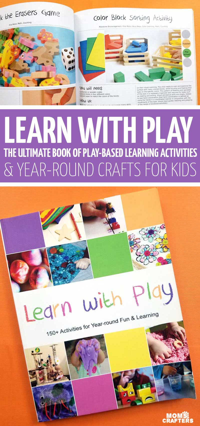 Click to learn more about this amazing, ginormous kids activities book full of fun ideas for learning with play including homeschooling, sensory play, toddler activities, preschool crafts, science, and more boredom busters and educational ideas.