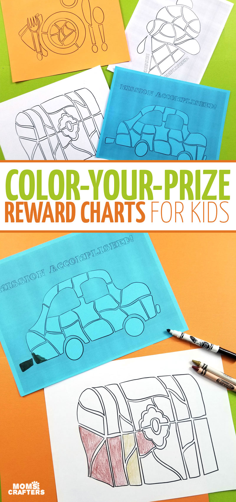 Aren't these color-your-prize rewards charts for kids brilliant? You can use them as chore charts or as potty training charts. includes free printables and tips.