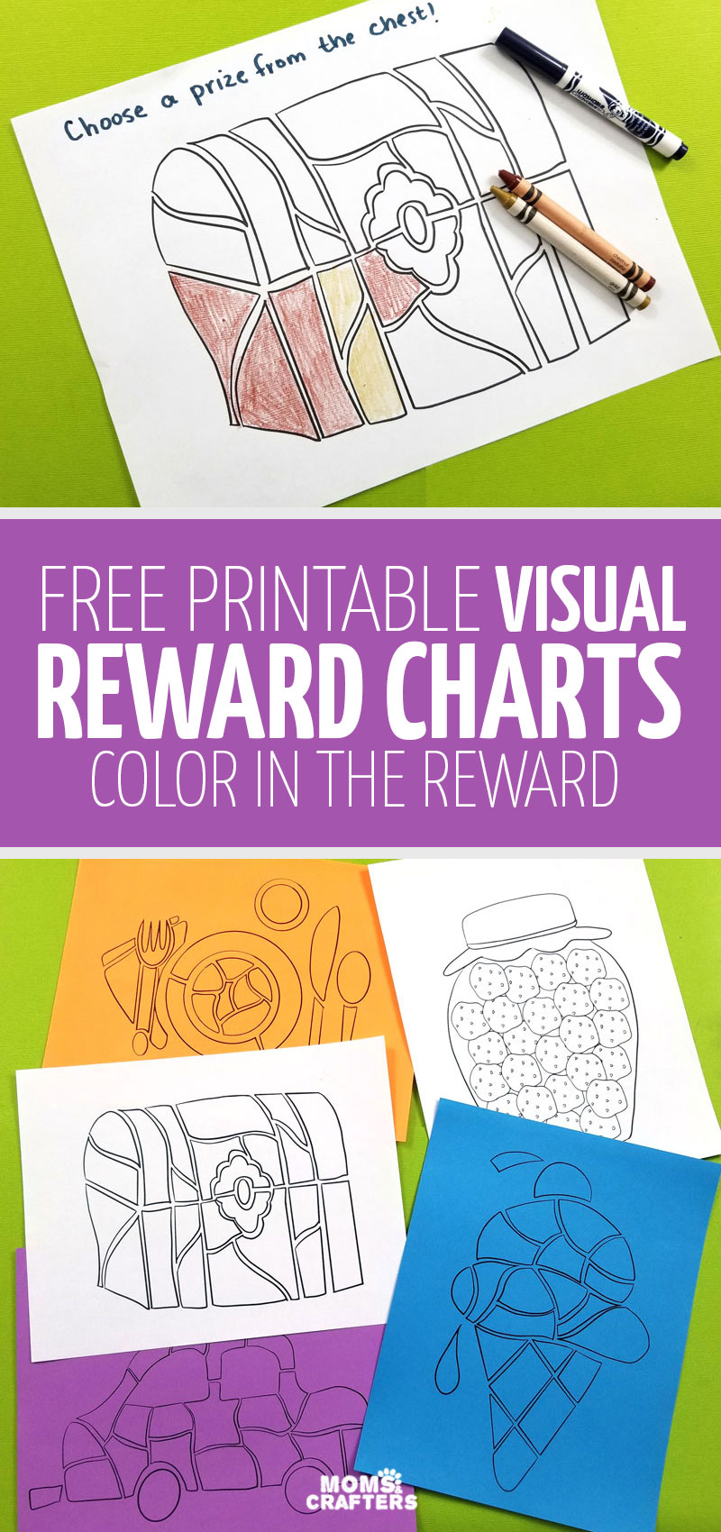 Visual reward charts for kids allow them to see visually how they're earning their prizes! Click to get these free printables rewards charts for kids - toddlers, preschoolers, and even teens!