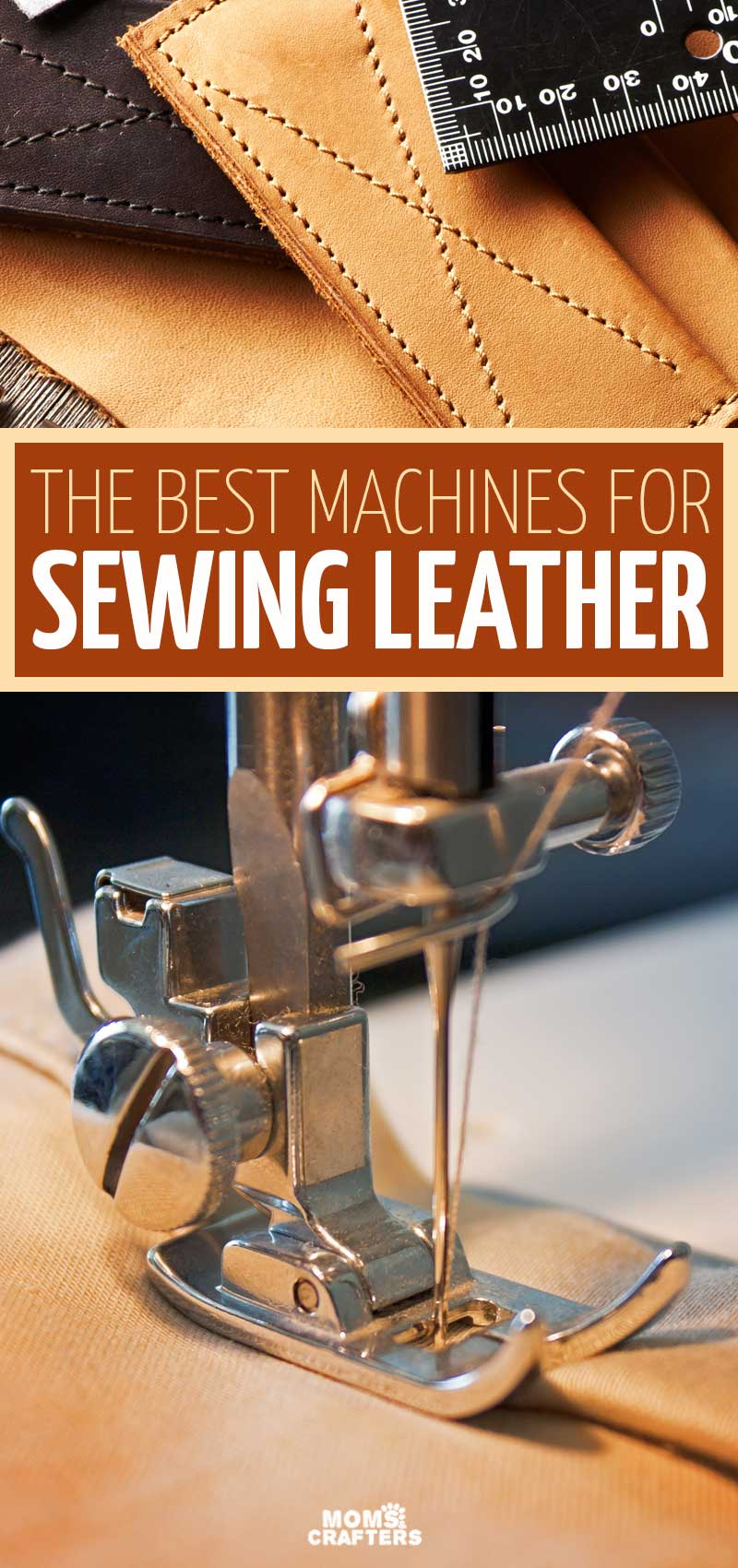 Click for sewing tips and the best machine for sewing leather! Learn how to sew leather crafts using a sewing machine, which needles you need, and more tips for sewing leather with a sewing machine.