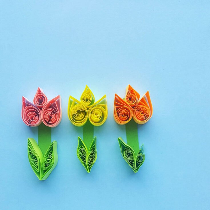 Quilled Paper Tulips