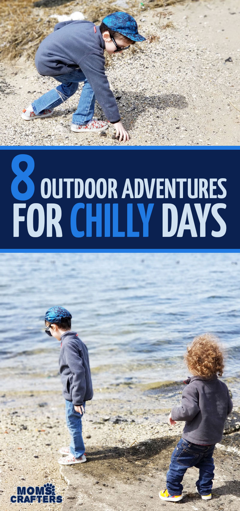 click for some cool ideas for outdoor adventures to do on chilly days! these 8 outdoor activities for Spring are fun for toddlers, preschoolers, and kids! They include nature ideas and crafts, science and other art activities, and more.