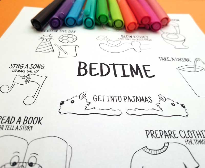 Bedtime Routine Printable Poster