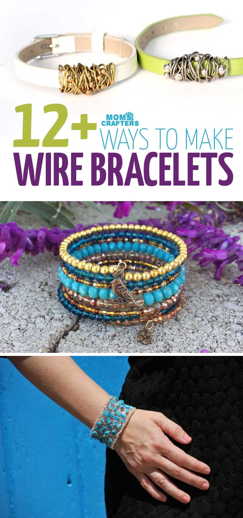 Click to learn how to make wire bracelets and for some DIY wire wrapped cuffs, wire wrapping tutorials, memory wire bracelets ideas and jewelry making DIY projects.