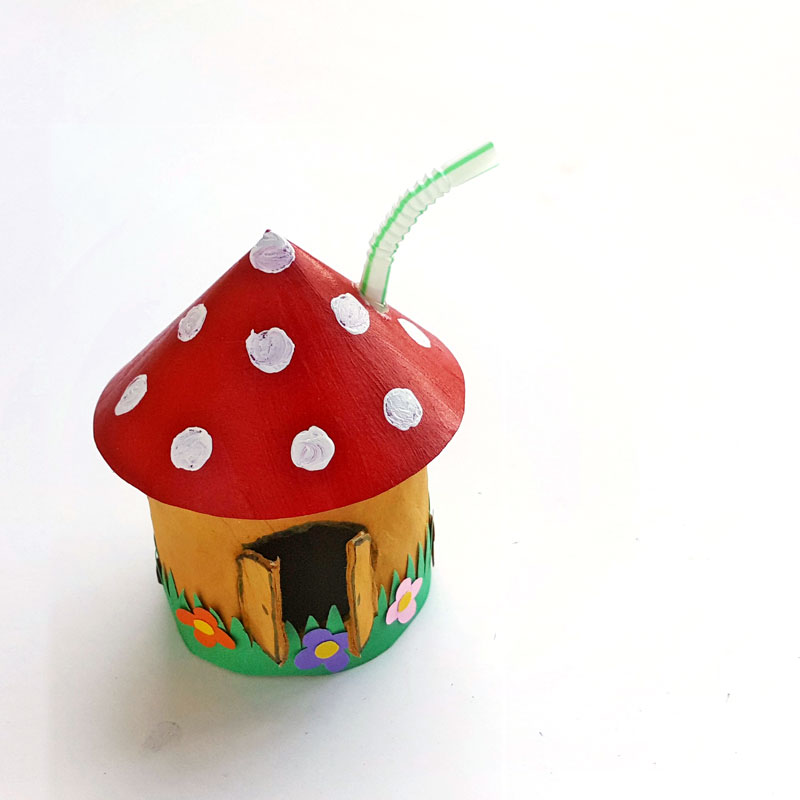 Toadstool House Lantern Easy Paper Craft For Kids