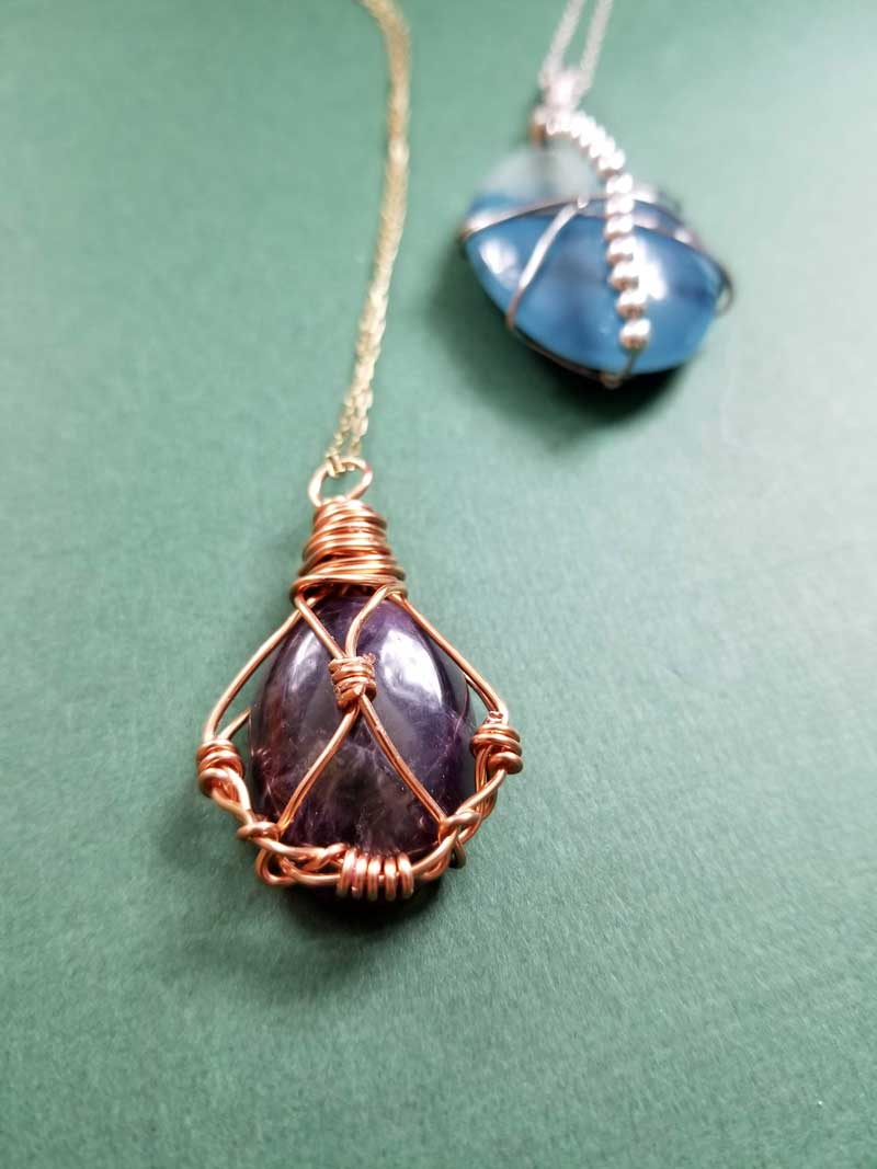WIRE WRAPPED CRYSTALS pendants