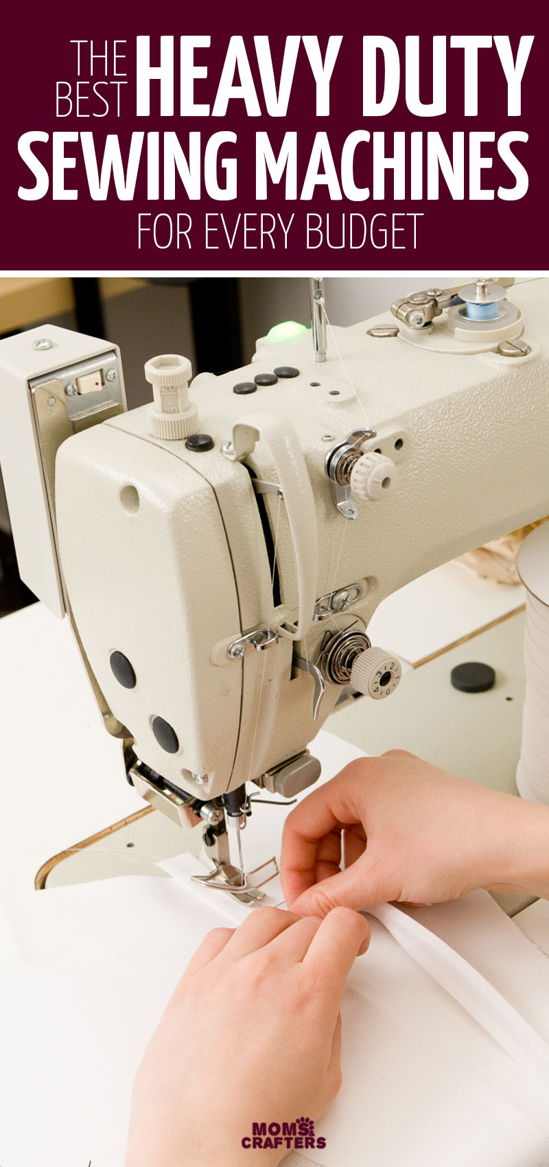 Looking for the best heavy duty sewing machine for your needs? Click for a list of some of my favorites for sewing heavyweight fabrics including sewing tips for buying a very versatile machine.