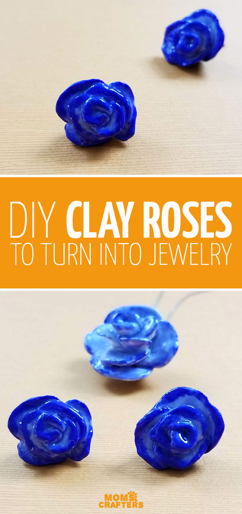 Make DIY clay roses and turn them into beautiful pendants and earrings for beginners. First learn how to make clay rose earrings then turn it into a pendant too.