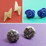 Pretty stud earrings DIY tutorials and ideas