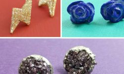 Pretty stud earrings DIY tutorials and ideas