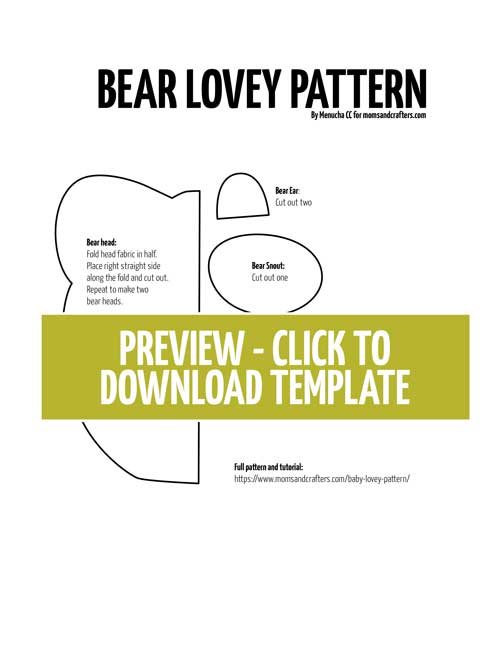 Click to download baby lovey pattern preview