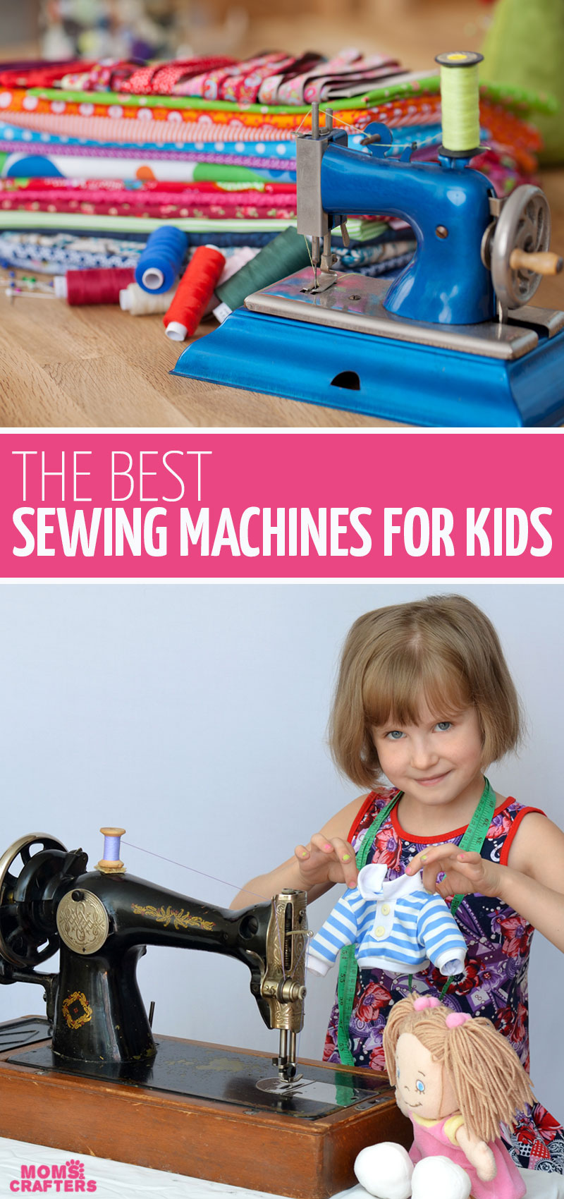 Click for the best sewing machine for kids - both toy machines that work and REAL sewing machines for beginners that are good for kids too! You can teach kids to sew pretty young and these are the best tips and machines for children.