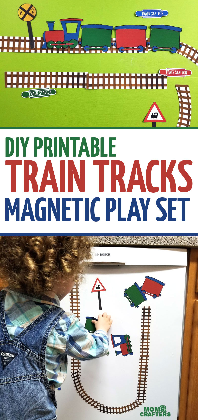 Click for some DIY train magnets and train printables! These are fun travel activities and a great resource for teaching about transportation.