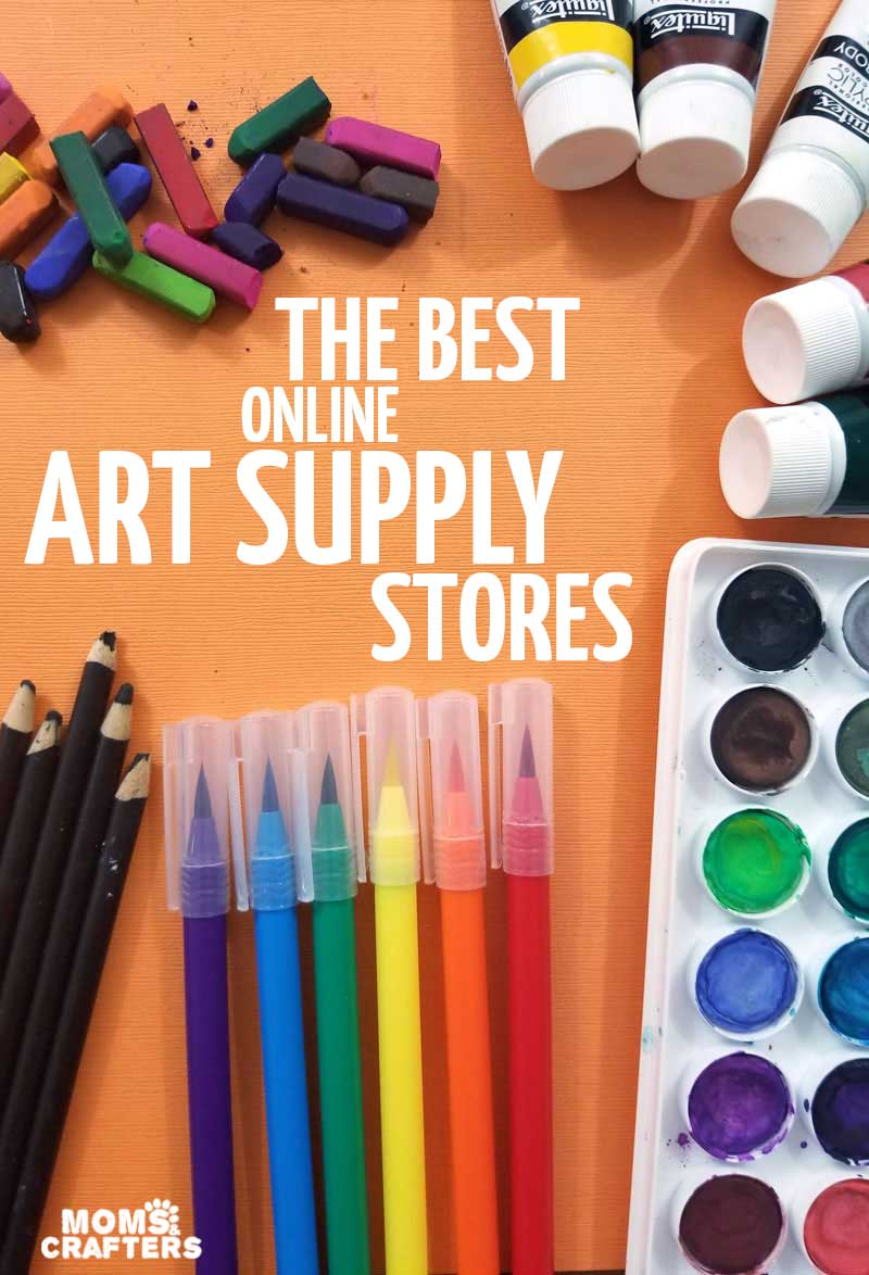 Clcik for al ist of teh best online art suppy stores and places to buy paints, markers, and more for tweens, teens and adults!