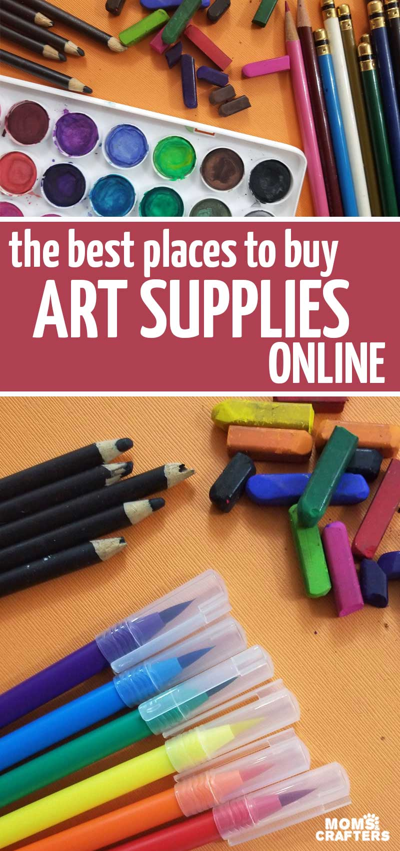 Click for a list of the best online art supply stores for kids, and adults! You'll find the best places to buy watercolor paints, brush markers, and more!