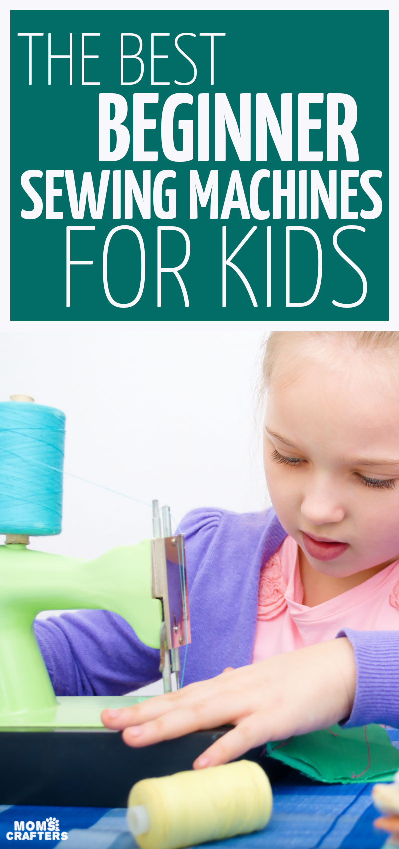 Kids can learn how to sew pretty young - find out what the best sewing machine for kids including tweens, teens, and children as young as 6! These sewing machines and tips for teaching kids how to sew are a fun new life skill for kids to learn.