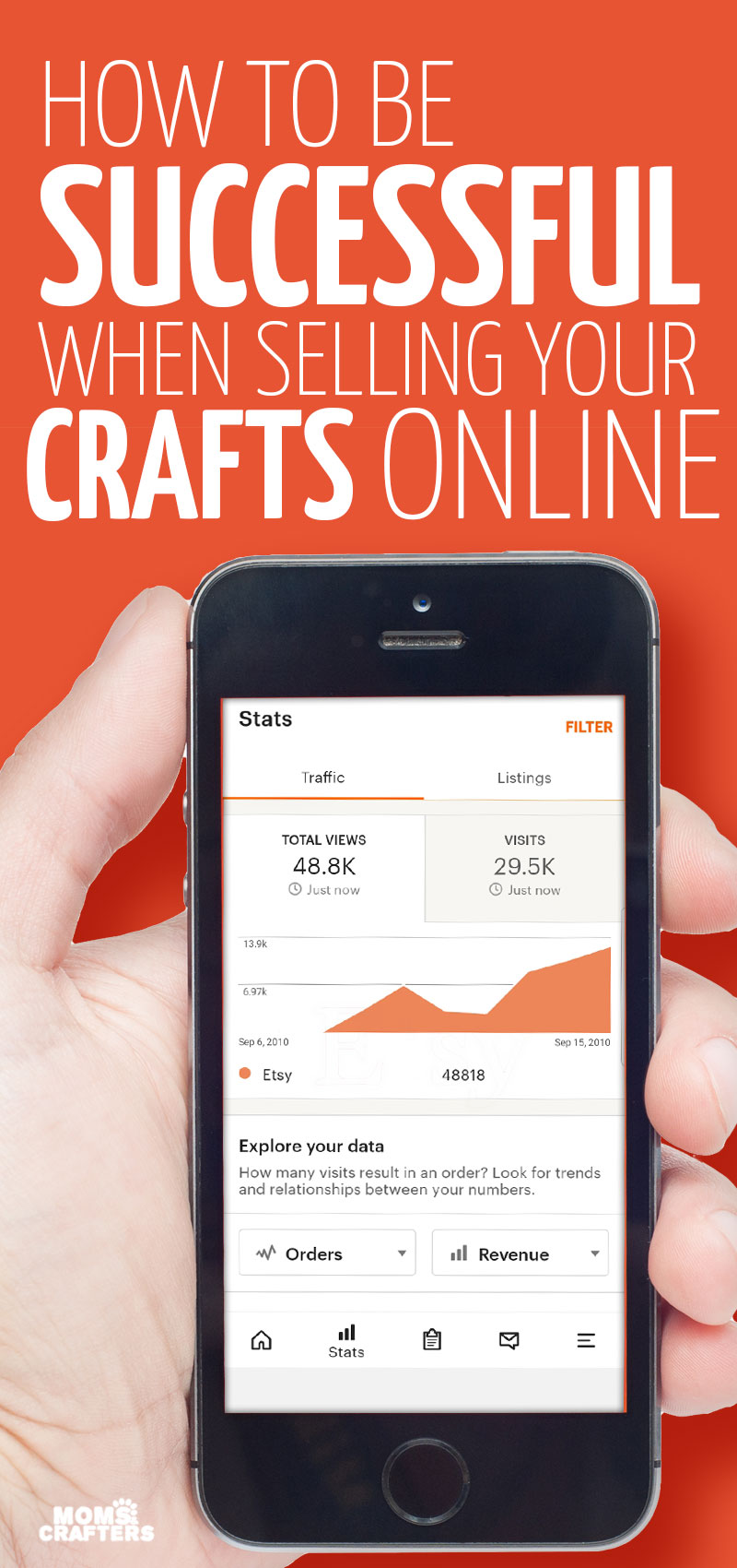 Click for some top tips for selling crafts online and tips for successfully selling on Etsy.