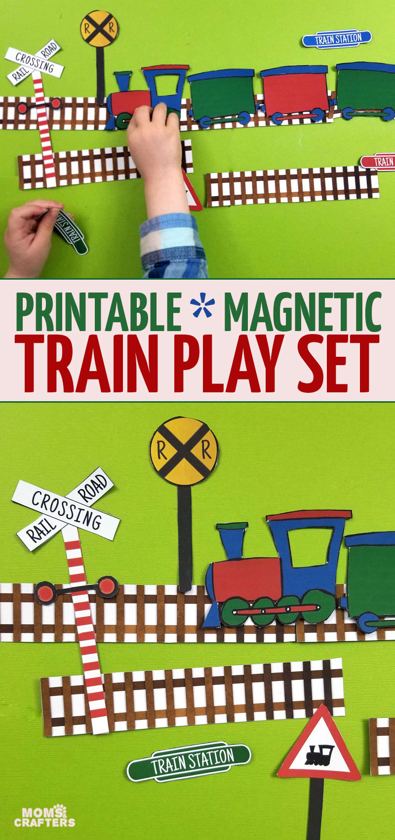 Click for some really cool train printables and magnetic travel activities for preschoolers, toddlers, and more!