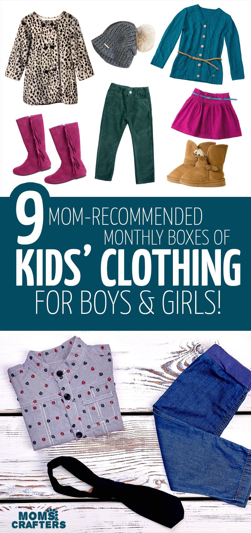 Get monthly clothing deliveries to your home with these favorite kids monthly clothing box subscriptions for boys and girls!