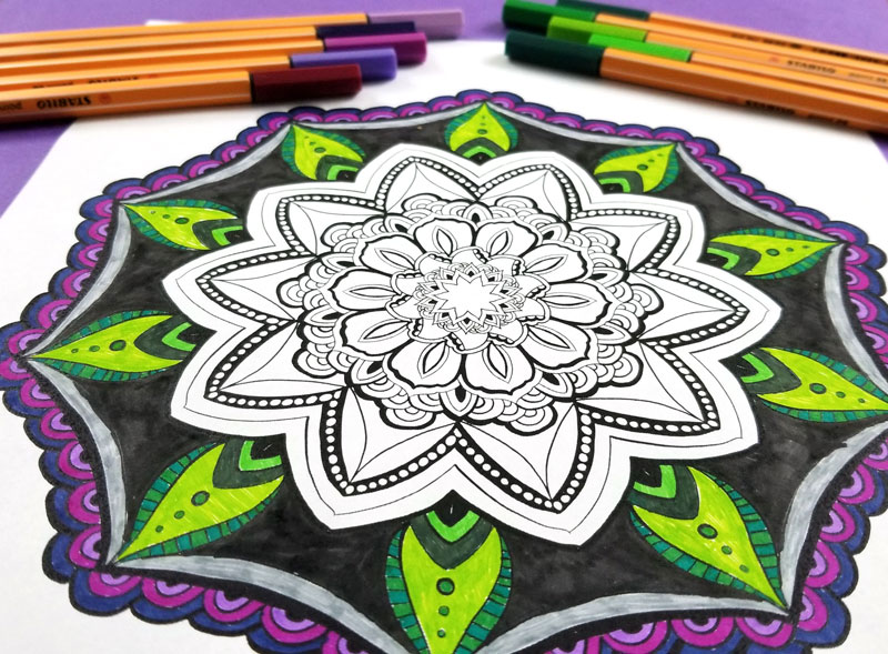 free printable mandala coloring pages for adults 11