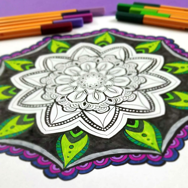 free printable mandala coloring pages for adults 12