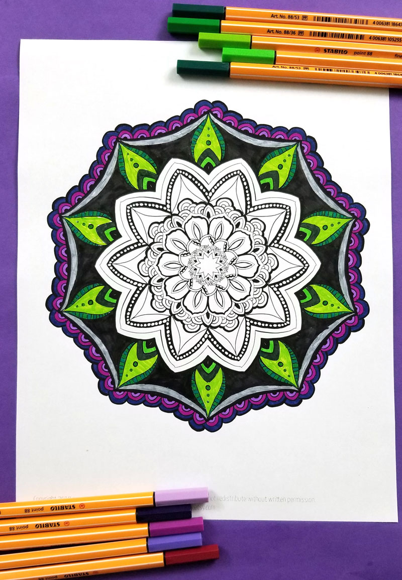 free printable mandala coloring pages for adults 8