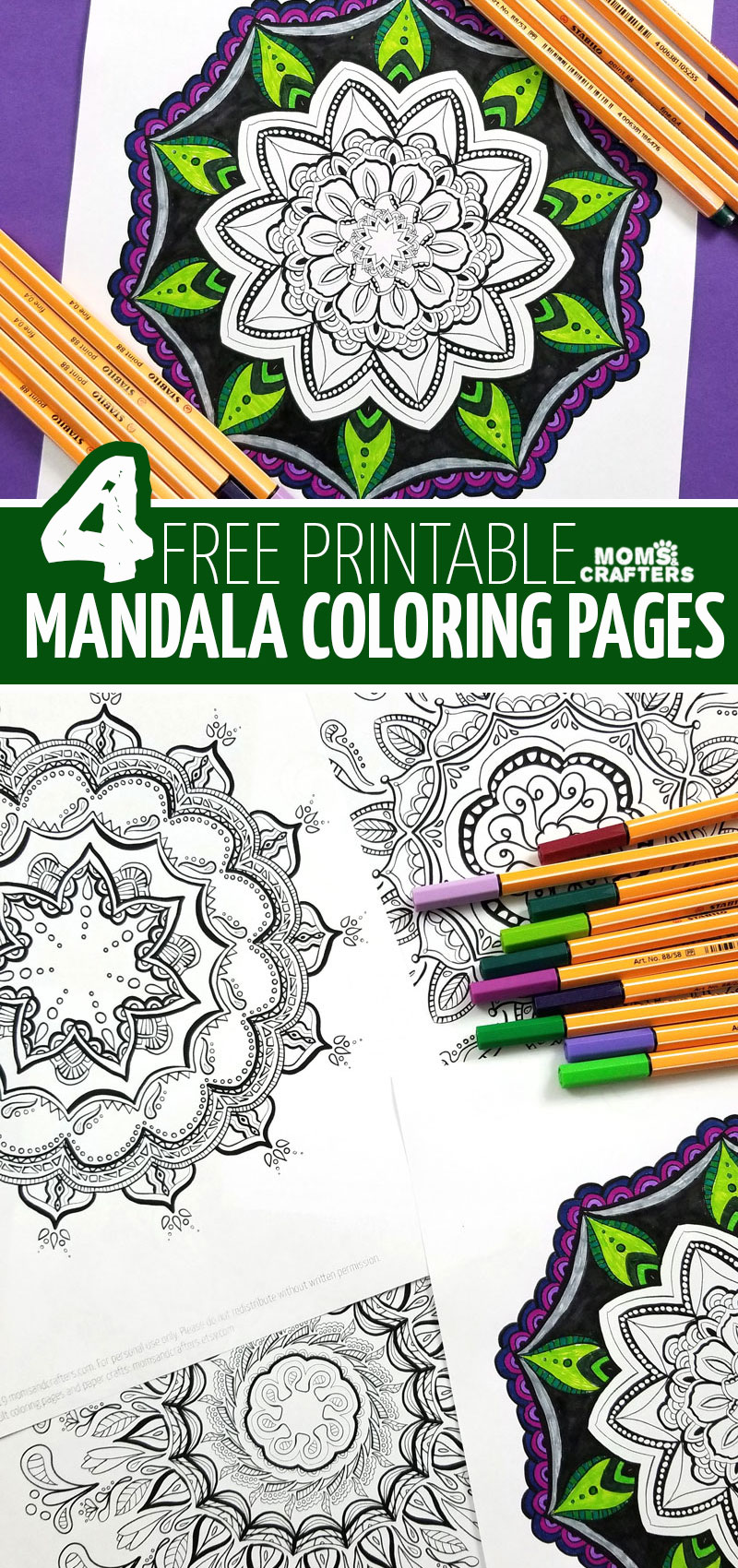 free printable mandala coloring pages v2
