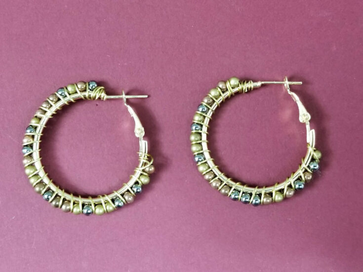 Wire Wrapped Earring Hoops