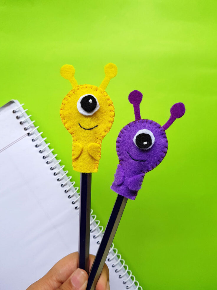 Monster pencil topper craft