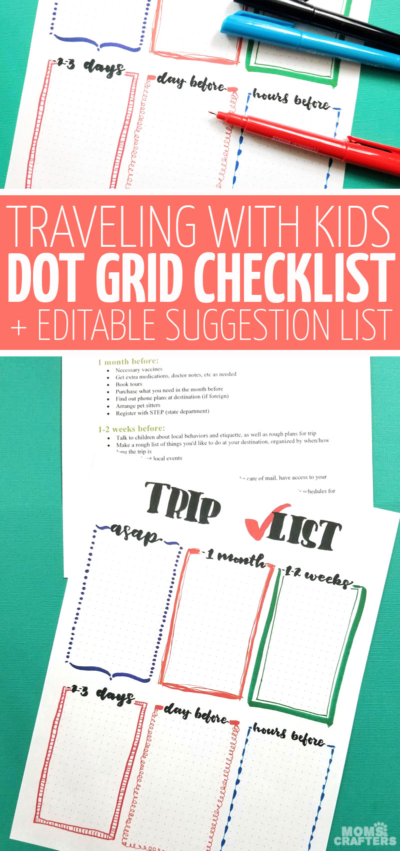 Looking for a cool travel with kids checklist? This free printable pre-trip to do list will help you make sure you have everything done and organized for your long haul international plane trip with young kids including toddlers, preschoolers, and more!