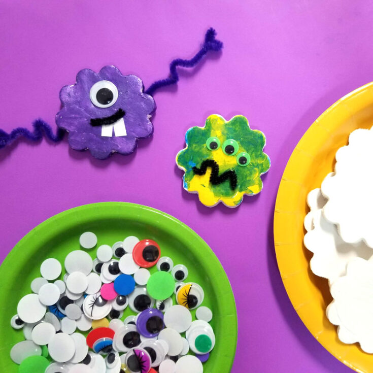 Monster Craft Invitation - Decorate Magnets!