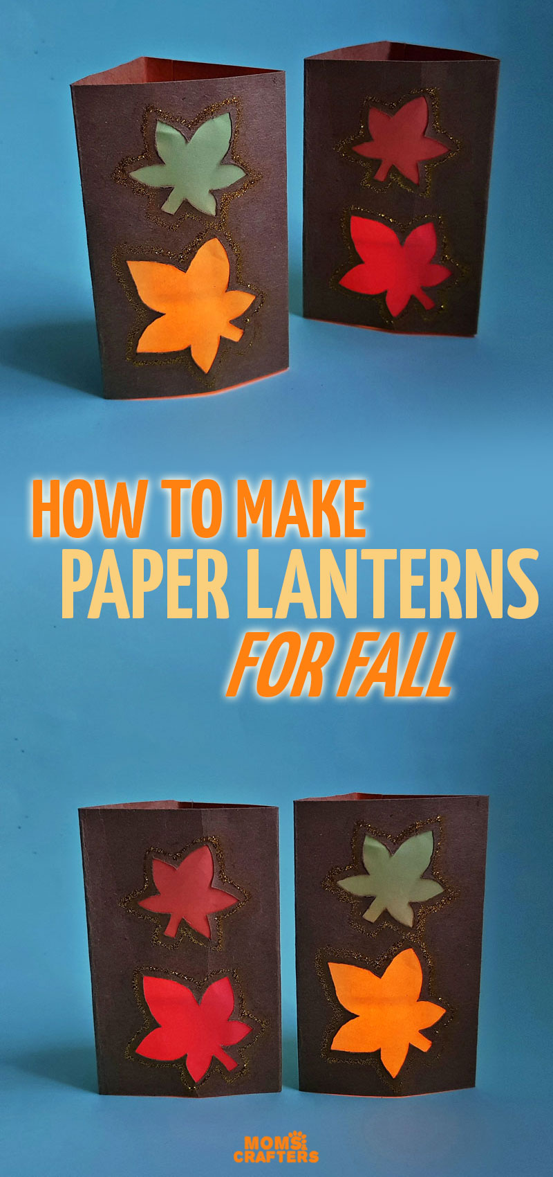 Click to learn how to make fall luminaries and beatiful paper lanterns for fall! This sweet fall leaf craft is perfect for teens, tweens, kids, and grown-ups and a cool DIY project to decorate your mantel for autumn.