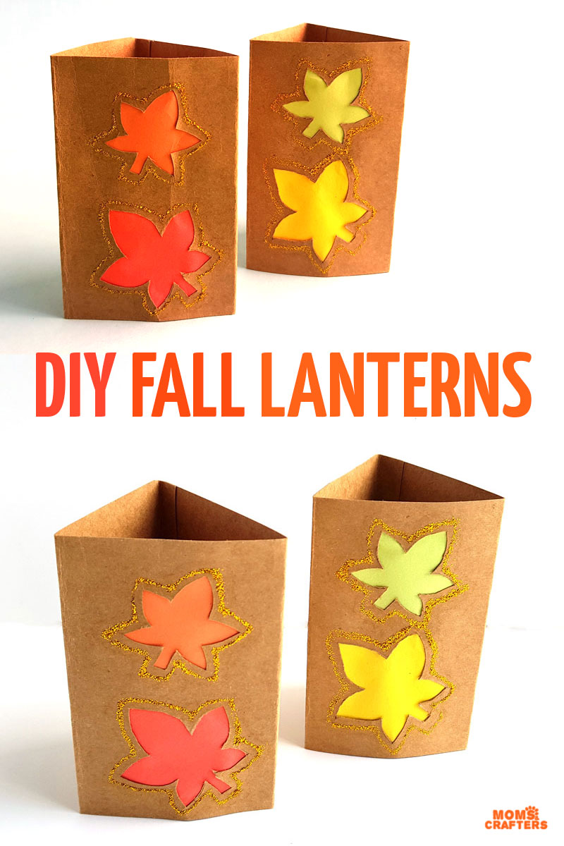 Craft these pretty DIY fall luminaries with kids, teens, tweens, or even preschoolers.