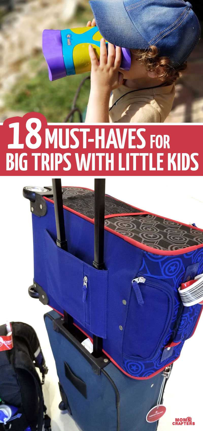 18 must haves for international travel with kids plus tips for traveling with toddlers preschoolers and big kids. This must-have travel gear will help your long haul flight go more smoothly.