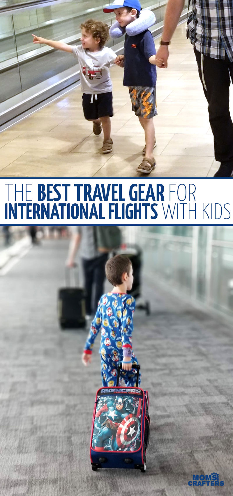 Click for the best travel gear for traveling with toddlers preschoolers and toddlers! These must haves for international travel will help you going on an airplane with kids and flying long haul flights.