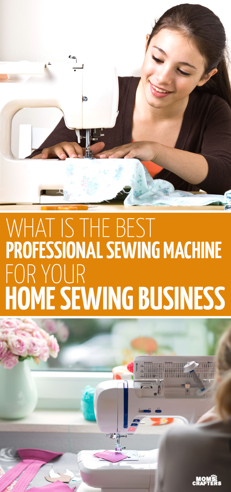 Click for my list of the best sewing machine for professionals - these top industrial and commercial sewing machine picks take you through sewing tips for setting up a home business