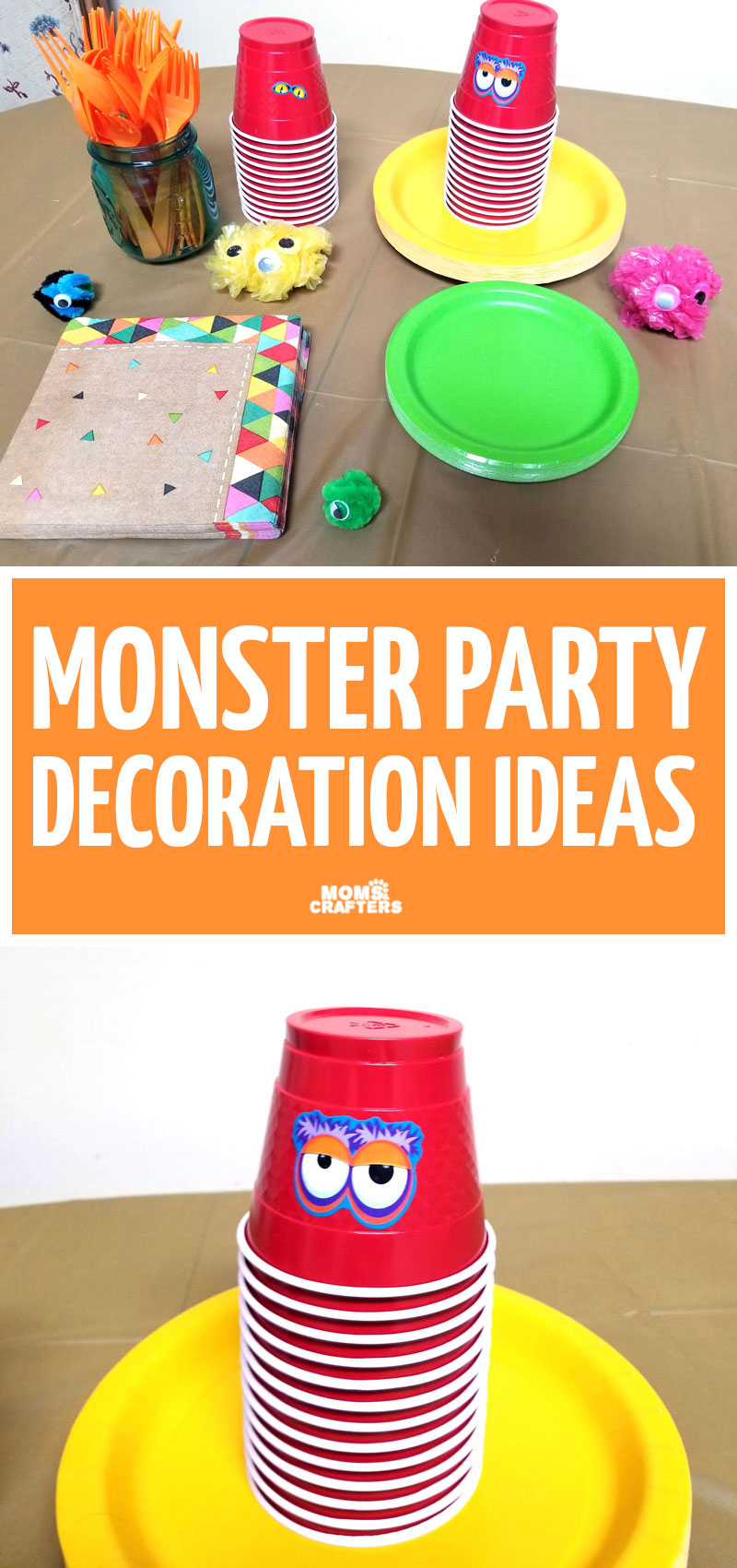 Click to make some super cool and easy DIY monster party decorations, just like we did by my boy's third birthday party! These cool decorating ideas are great for a toddler's birthday.