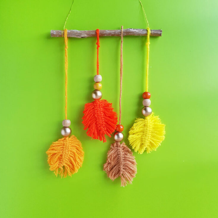 Fall Leaf Macrame
