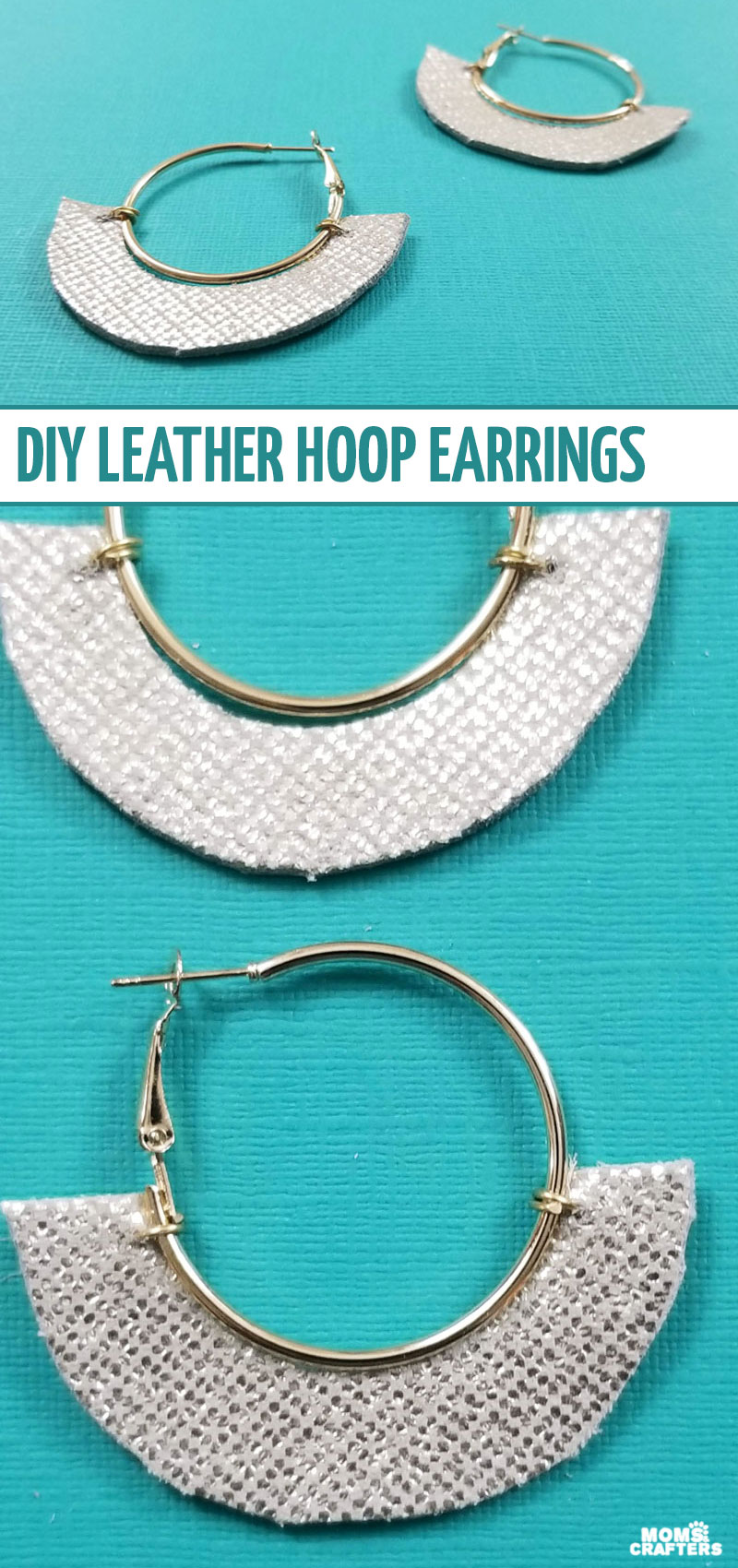 Make some cool leather hoop earrings - a fun and easy jewelry making project for beginners!