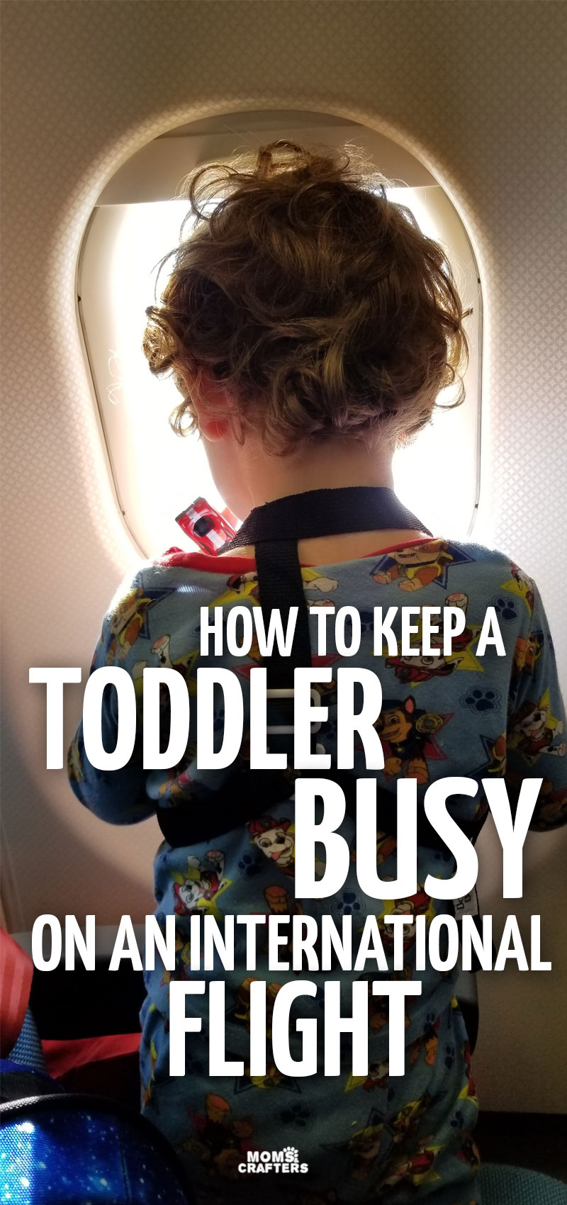 Travel with toddlers on a plane can be challenging but these toddler airplane activities will help!