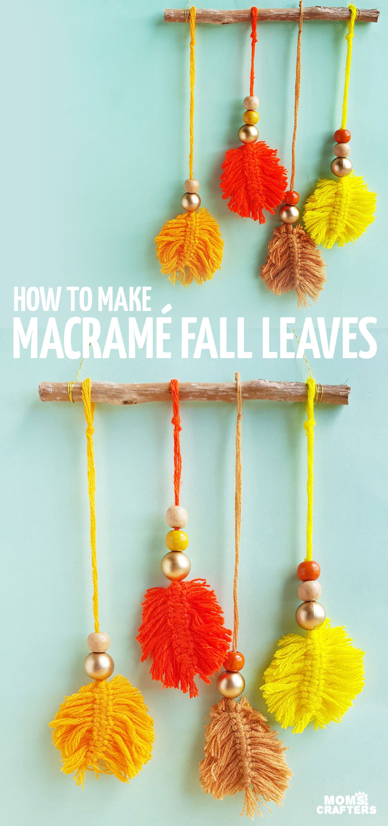 Learn how to make macrame fall leaves using just a few simple steps, and then turn it into stunning fall DIY decor! This gorgeous DIY easy macrame wall hanging tutorial for beginners will bring autumn hygge into your home